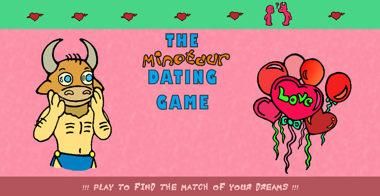 Dumb Bum Comics Banner for the Minotaur Dating Game Online