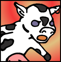 Gordy the Cow, a character from Y2CL comic