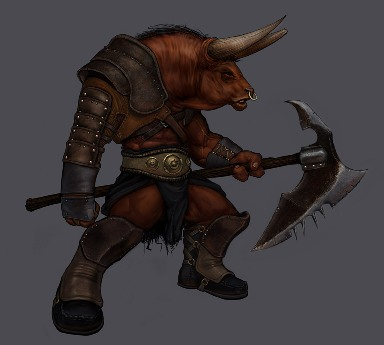 Harilaos the young minotaur